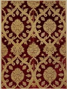 photo of 16th century silk velvet, made in Bursa.