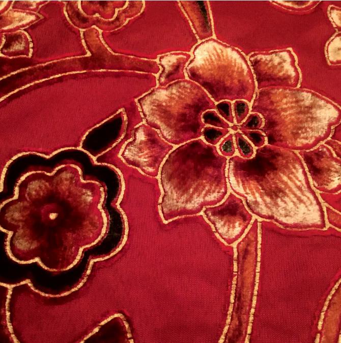 Devore fabric or burnout fabric