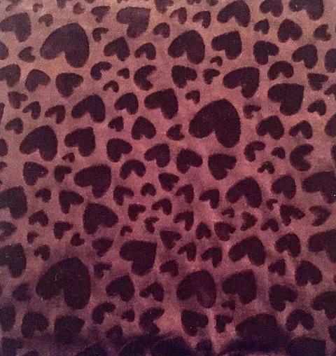 Embossed velvet fabric in brown