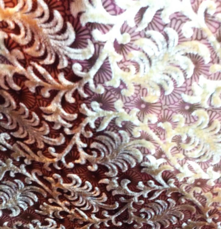 Twirl Devore Velvet fabric/burntout fabric